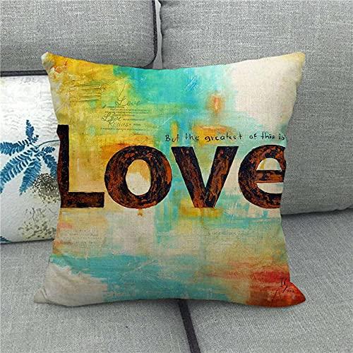 Dafang Red Love Mood Love día de San Valentín Funda de Almohada de Lino Abrazo Almohada Abrazo Funda de Almohada s Suministro 1498-7_45 * 45cm