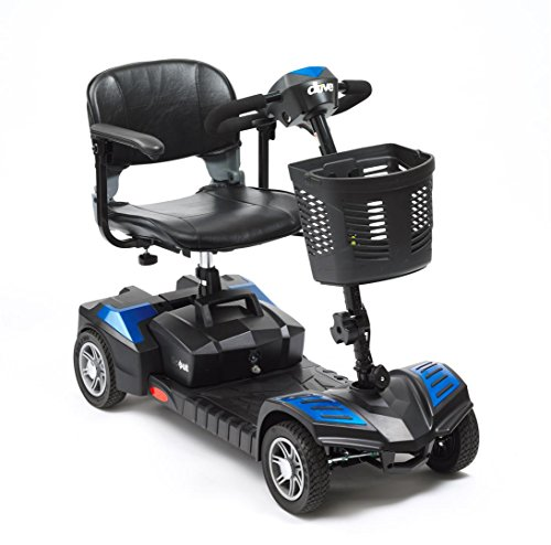 Drive Scout Class 2 Portable 4 Wheel Mobility Scooter 20 AMP Batteries - Blue