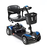 Drive Scout Class 2 Portable 4 Wheel Mobility Scooter 12 AMP Batteries - Blue by Drive Medical