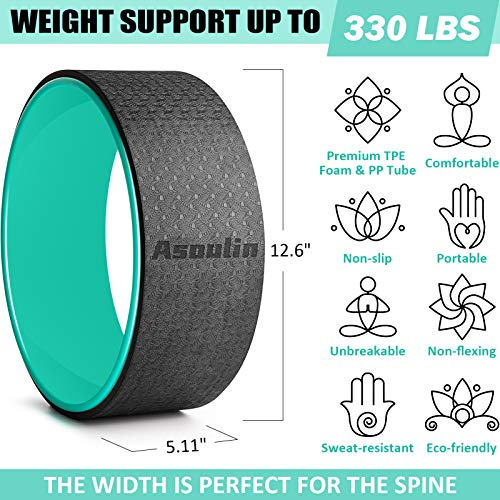 Yoga Wheel for Back Pain & Stretching, 12.6