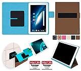 reboon Hülle für Odys Space 10 Plus 3G Tasche Cover Case Bumper | in Braun | Testsieger