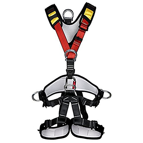 Climbing Harness,Full Body Safety Harness Safe Seat Belt for Outdoor Tree Climbing Harness, Mountaineering Outward Band Expanding Training Caving Rock Climbing Rappelling Equip