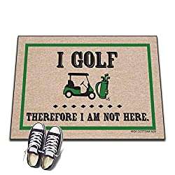 I Golf Therefore I'm not Here - Doormat