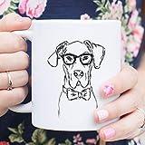 King34Webb Harvey - Taza de desayuno, diseño de perro de gran danés, gran amante de los danes, gran danés, regalo de gran danés, gran amante de los perros