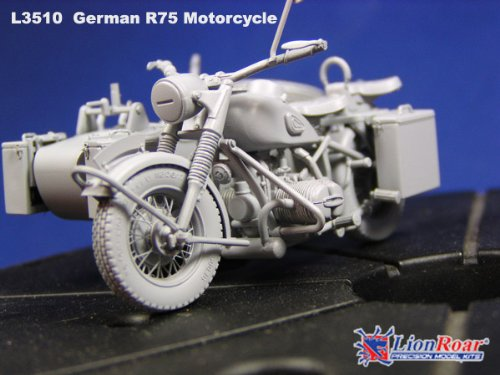 Great Wall Hobby 1:35 - WWII German BMW R75 + Sidecar + Trailers (Gwh3510)