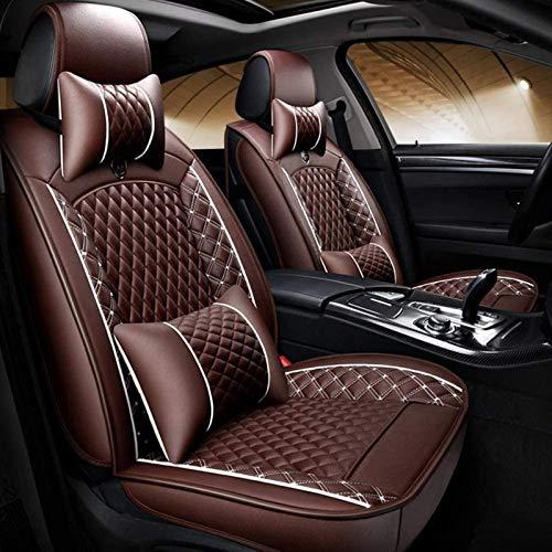 DTTN Fundas para Asiento de Coche Cuero Fundas de Asiento universales Auto Set Audi A3/A4/A5/A6/A8/Q3/Q5/RS4 BMW X6 E71(2008-2015) Fundas de Asiento Accesorios de Coche,café