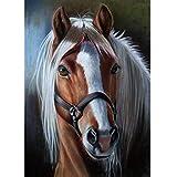 5D Diamond Painting Diamant Malerei Painting Bilder, Wowdecor Schön Pferd Tiere Full Set Groß DIY Diamant Gemälde Malen Nach Zahlen