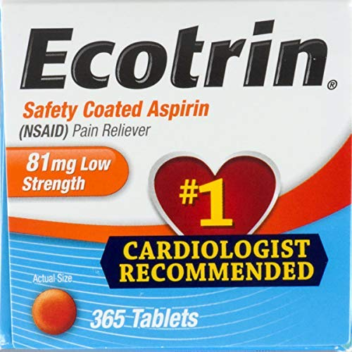Ecotrin Safety Coated Enteric Aspirin, 81 mg Low Strength Tablets 365 ea