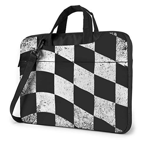 Laptop Bag Satchel Tablet,Checkered Flag Handle Carrying Computer Bag,Laptop Shoulder Messenger Bag Case Sleeve Ultra Thin Durable For Women & Men