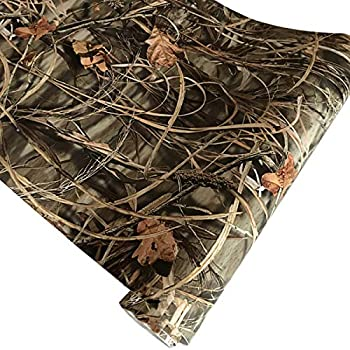 Queenbox 50x152cm Camo Vinyl Wraps Woodland Nature Camouflage Self-Adhesive Car Sticker Decal Film Air Release Roll Plant 02
