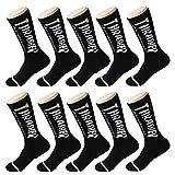 LVYY Sportsocken Baumwolle atmungsaktiv Feuchtigkeit Wicking Arbeiten Sie Bequeme Mannschaft Socke (Color : Black, Size : 10pairs)