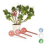 Photo Gallery relaxdays set 4 sfere per irrigazione, dosatori d'acqua per piante da vaso, durata 2 settimane, in plastica, rosso