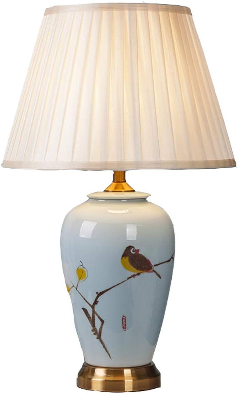 Wohnzimmer-Schlafzimmer-Tischlampe aus Keramik Keramik Keramik handbemaltem Nachttisch aus Stoff B07K5CGS62     | Online Outlet Store  2d88bd