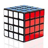 TOYESS Cubo Mágico 4x4, Speed Cube Paquete de Regalo de Juguete de Rompecabezas para Niños y Adultos, Negro