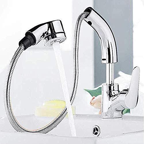 Koper Pull waterkraan eenhands waterkraan wastafel waterkraan telescoop warm en koud waterkraan