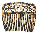 Samoan Hawaiian Designed Carved Faux Turtle Shell Comb