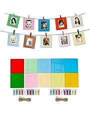 Cpano 20pcs Papel Decoración de la pared para colgar fotos de película Marco para Fujifilm Instax Mini 8 7S 8 + 9 25 26 50s 90 Polaroid películas y tarjeta de nombre (Multi)