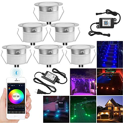 INDARUN LED Deck Lights Kit 6pcs Φ1.77