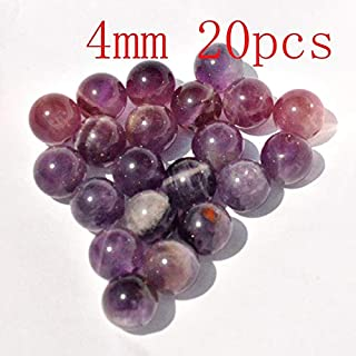 ZRBC Natural Amethysts Crystal Stone Beads For Jewelry Making DIY Bracelet Necklace (Color : 000114 4 20)