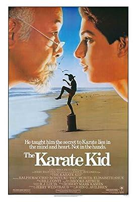 Blueline The Karate Kid Movie Poster 27 x 40 Ralph Macchio, Noriyuki Pat Morita, A, Made in The U.S.A.