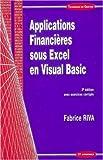 Applications financières sous Excel en Visual Basic
