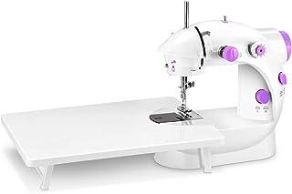 電動ミシン Fohil ミシン 家庭用 コンパクト 小型軽量 初心者 簡単操作 2段階スピード LEDライト 拡張テーブル フットコントローラー付き DIY 手芸手作り 日本語説明書付き