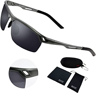1a92dcd454 DUCO Men s Polarized Sunglasses for Men Sports Driving Cycling Running  Fishing Golf Unbreakable Frame Metal Driver