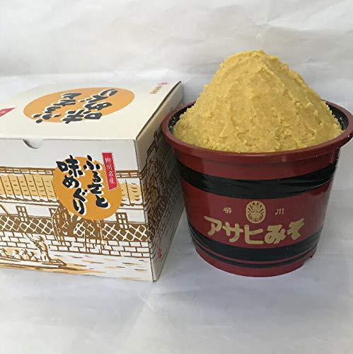 福岡県柳川 アサヒ醸造 ふるさと味めぐり 漆器樽入り米味噌 3kg(化粧箱)(3kg:米みそ)