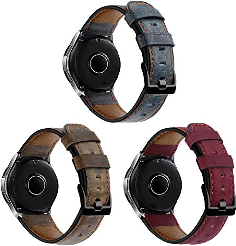 Gransho Piel Correa de Reloj 22mm, Correa/Banda/Pulsera/Recambio/Reemplazo/Strap de Reloj (22mm, 3PCS A)