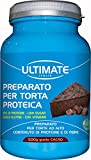 Preparato Per Torta Proteica Al Cioccolato | 30% Di Proteine | Low Carb | Senza Zucchero | Con Frutta Secca | Arricchito Di Fibre e Vitamine | Senza Glutine | 500 g. | Ultimate Italia