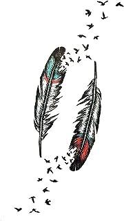 Qqinghan Desgin Cool Letter Tijdelijke Bladeren Tattoo Branch Bloem Waterdichte Tattoo Dames Body Arm Art Finger Tatto Sti...