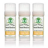 Green Tidings Natural Deodorant - Orange Vanilla 2.7 oz. (3 Pack) - Extra Strength, All Day...