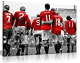 Manchester United Legends Football Canvas Wall Art Picture Print (24X16)
