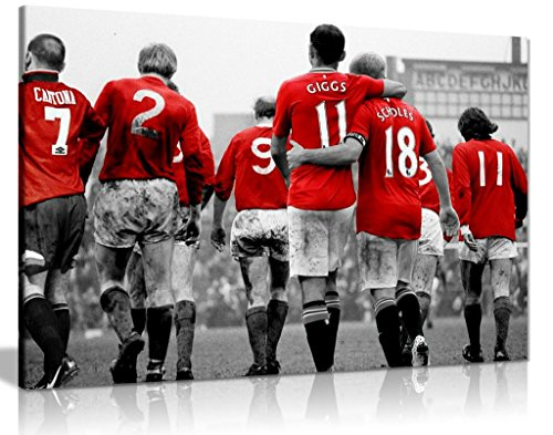 Manchester United Legends Football Canvas Wall Art Picture Print (36x24in)