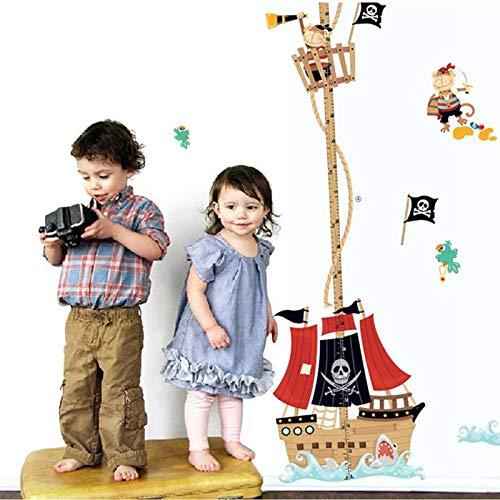Habitación infantil barco pirata papel pintado de dibujos animados decoración del hogar art deco sofá dormitorio decoración de la casa vinilo etiqueta de la pared papel pintado50X70cm