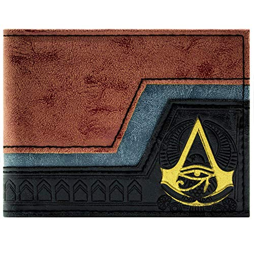 Cartera de Assassins Creed Origins símbolo en relieve Marrón