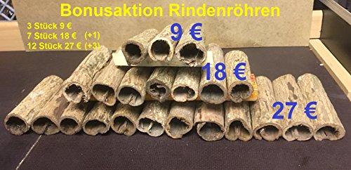 Höhlen Bonusaktion - Seemandelbaum-Rindenröhren Ø 3cm x 10cm bis 12cm (Catappa Barks Cave/Tube - Welshöhle)