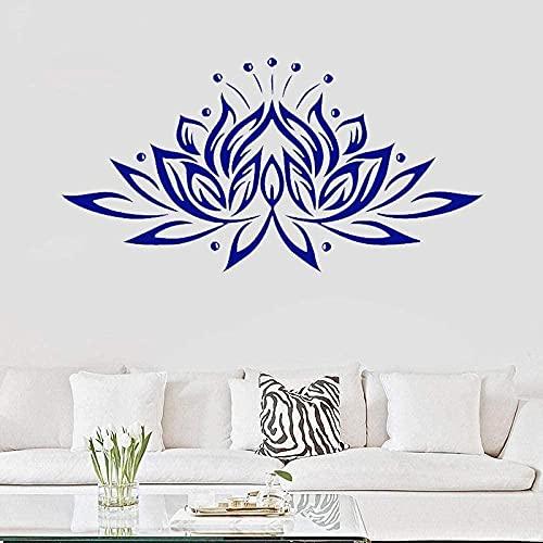 Etiqueta de la pared Lotus Wall Decal Art Pattern Yoga Sticker Vinilo Calcomanía Decoración del hogar Mural Living Room Decoración 48X96Cm