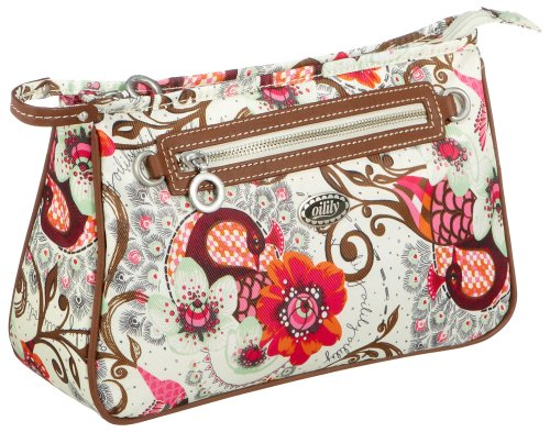 Oilily Tropical Birds L Cosmetic Bag, Elfenbein, 28.5x9.5x18.5
