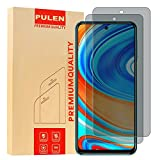 [2-Pack] PULEN for Xiaomi Redmi Note 9S and Redmi Note 9 Pro Privacy Screen Protector,Anti-spy Scratch Resistance Bubble Free 9H Hardness Tempered Glass