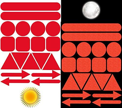 Biomar Labs® 19pcs Rojo Kit de Pegatina Cinta de Advertencia Reflectiva Reflectante...