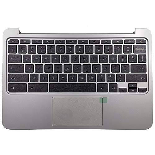 New Replacement Laptop Keyboard Compatible with HP Chromebook 11 G4 11 G3 Series Palmrest Keyboard & Touchpad Assembly 788639-001 (NOT for HP 11 G4 EE)