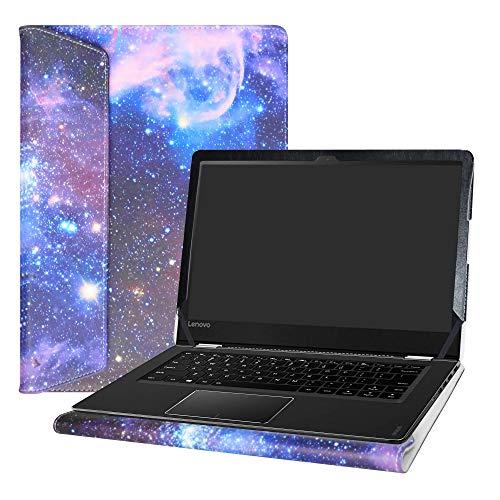 Alapmk Diseñado Especialmente La Funda Protectora de Cuero de PU para 14' Lenovo Yoga 510 14 Ordenador portátil (No Compatible con: Yoga 530/Yoga 520/Yoga 500),Galaxy