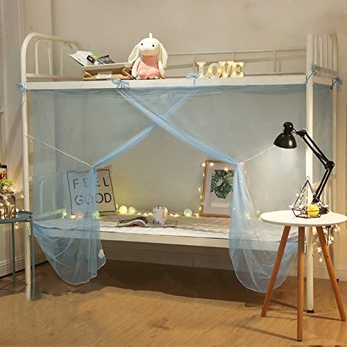 Tina Einzelbett Moskitonetz mückennetz,Schnelle und einfache Installation 1entrie Insektenschutz Wohnheim-H 90x200cm(35x79inch)