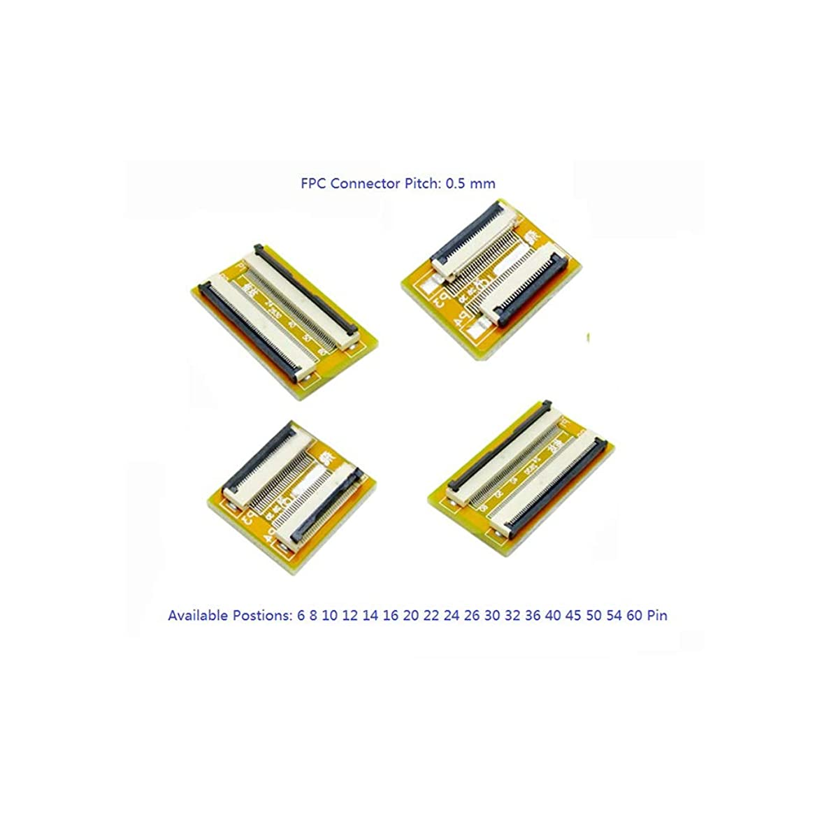 1 pc Flexible Flat Cable FFC FPC Extension PCB Pitch 0.5 mm 6 P 8 10 12 14 16 20 22 24 26 30 32 36 40 45 50 54 60 Pin,30 Pin