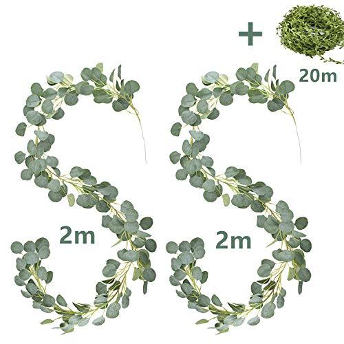 E-Bestar eucalyptus slinger, kunstmatige plant, Greenery, kunstleaf, bruiloft, woondecoratie, accessoires, wanddecoratie