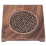 Salvamanteles de madera, soporte para ollas calientes para mesa y encimera,...