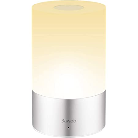 Bedside Lamp LED Dimmable Touch Table Light, Bawoo Portable Battery Powered Rechargeable USB Charging Night Light with 256 RGB Color Changing, and 3 Brightness Levels