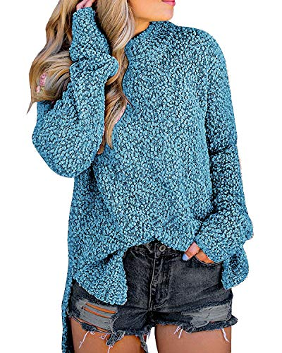 Size Guide:S=US 4-6,M=US 8-10,L=US 12-14,XL=16,Soft and stretchy fabric, we accept 30 days money back! Unique design: Crew neck, long sleeve, high low hem, solid color, soft and warm, Pebble Pile Sherpa Fleece Pullover This is so soft!! We can't even...