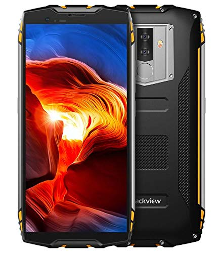 Blackview BV6800 Pro Smartphone Libres- Movil Todoterreno de 5.7 Pulgadas FHD +, Batería de 6580mAh de BAK (30 días en Espera), Impermeable IP68/A Prueba de Golpes/Octa Core 4GB+64GB - Amarillo